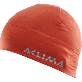Aclima LightWool Bonnet, red ochre